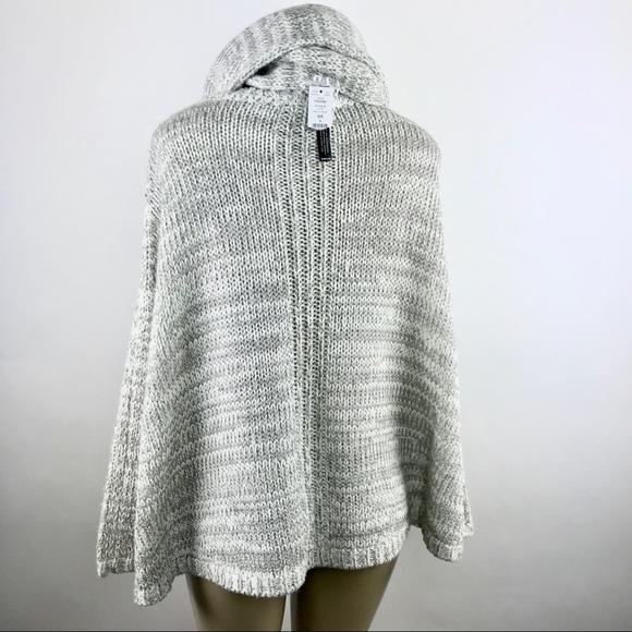 New WHBM Poncho Sweater 2 Pc  Wool Blend